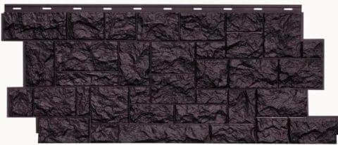 фасадная панель Нордсайд Северный камень 1117х463х24 Шоколадный